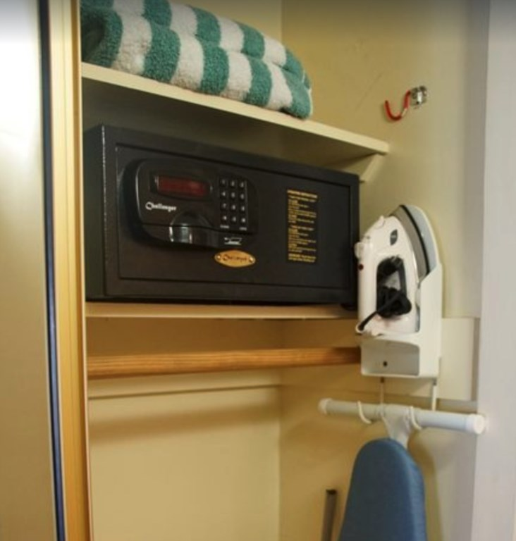 In room safe, along with beach towels, and ironing facilities.
