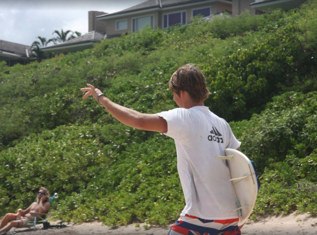 Fleming Beach is ideal for body surfing.