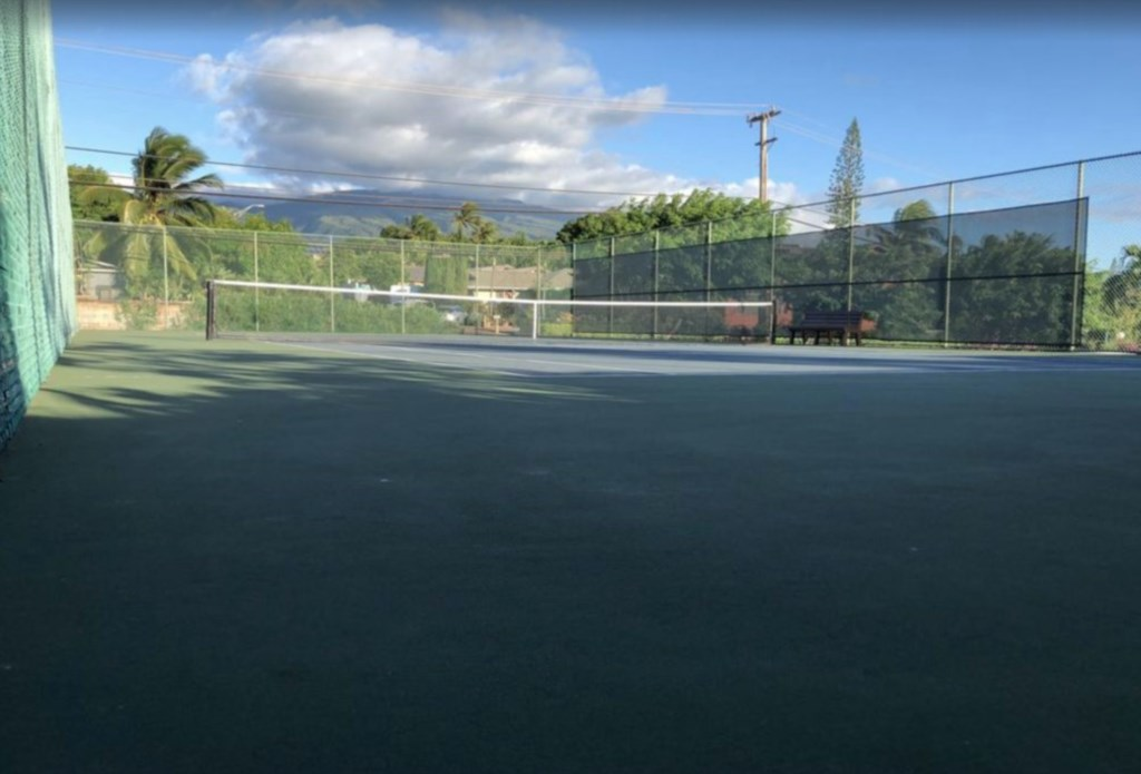 Tennis courts on the complex