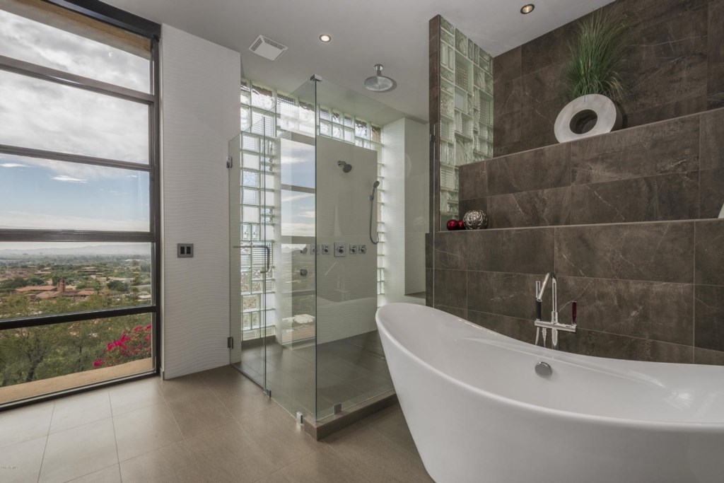 Master Bathroom with luxury finishes