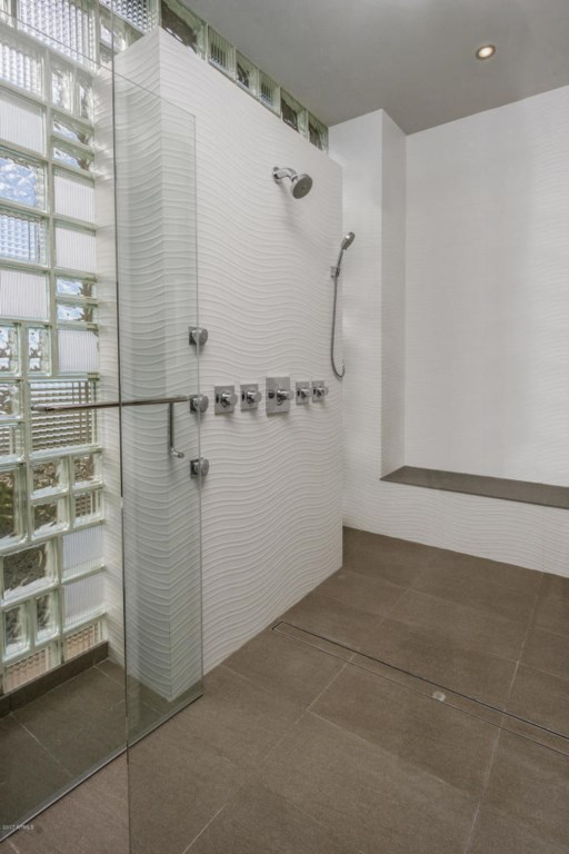 Master Bathroom with extra large shower