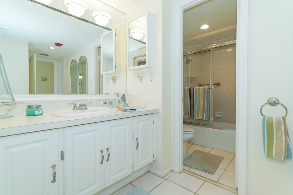 Bathroom with shower tub