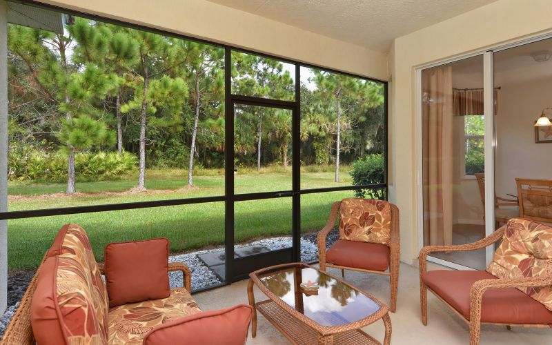 Lanai with Couch and Chairs