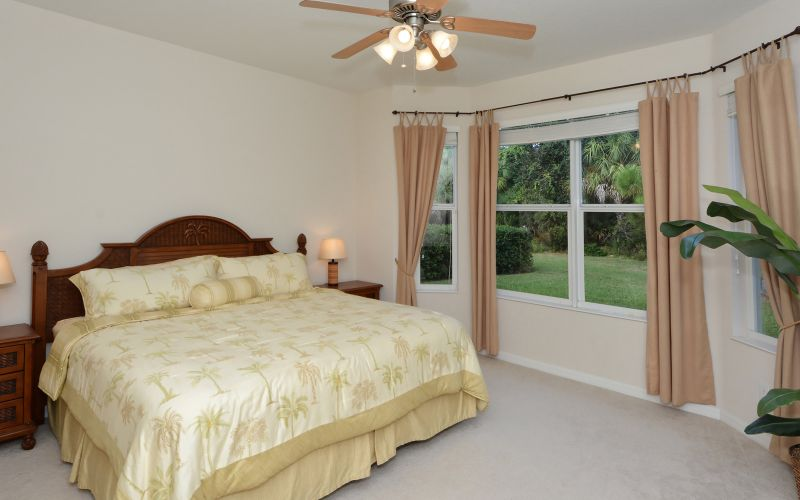 Spacious master bedroom with walk-in closets