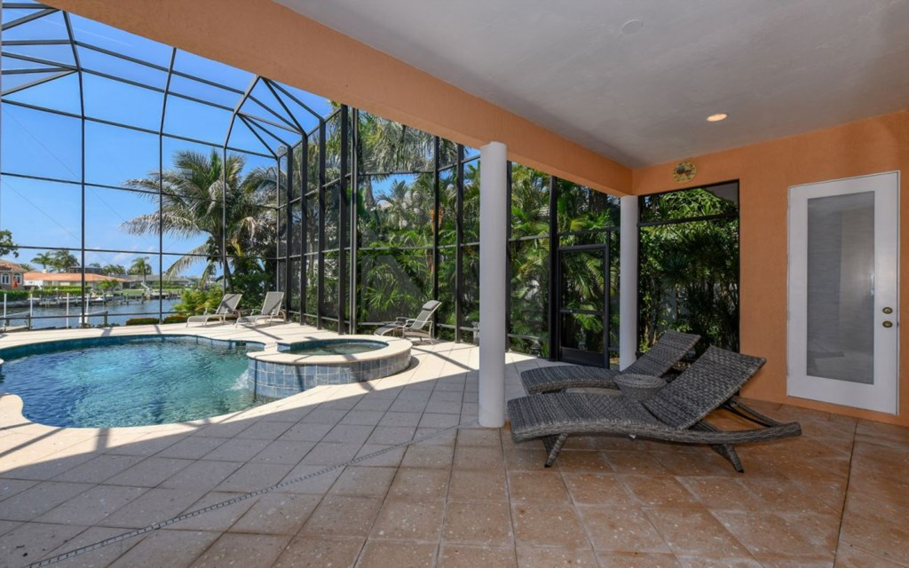 Loungers with Pool & Bay View