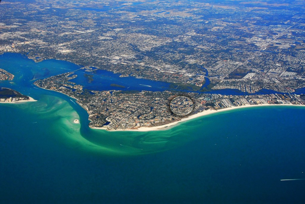 Aerial view of Siesta Key