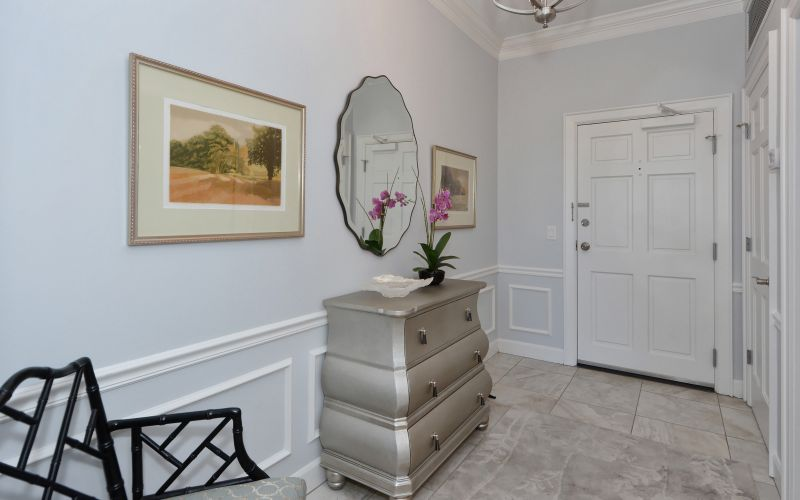 The spacious and bright foyer