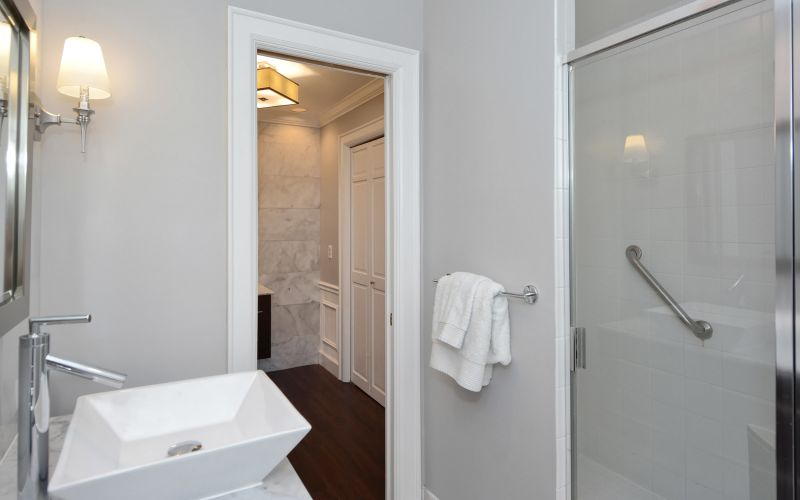 Bathroom with spacious walk-in shower