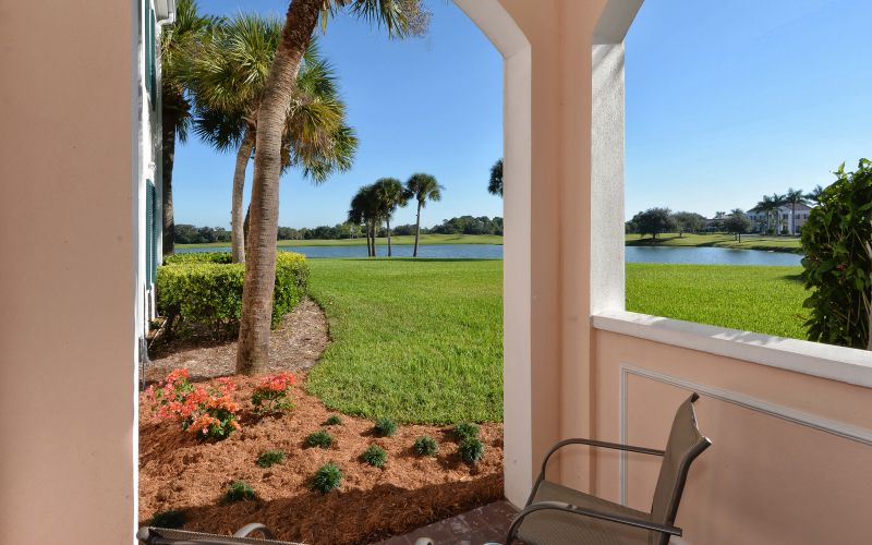 Relax and enjoy the view of the lake and golf course