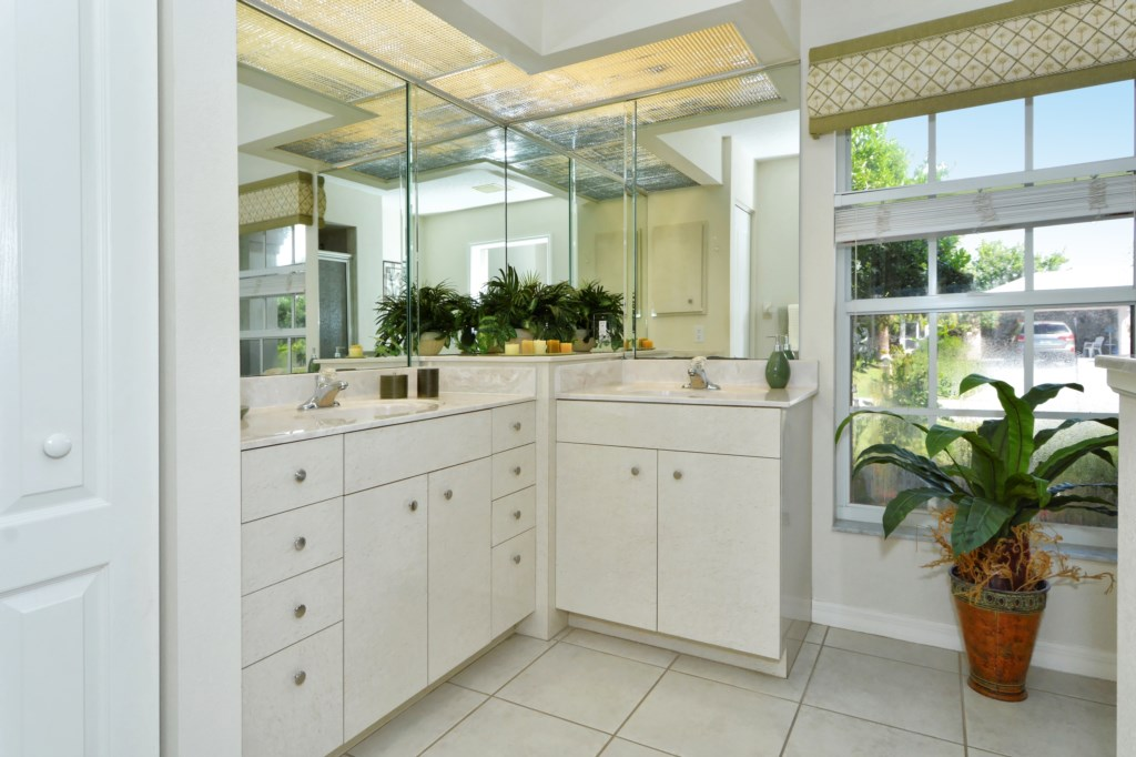 Master Bath with Double Sink and Shower