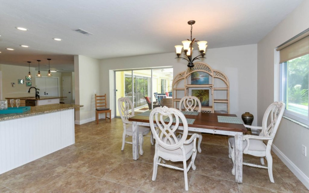 Open and bright dining area