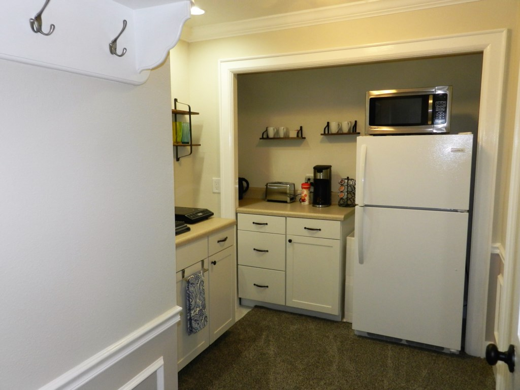 Small Kitchen with Fridge and Microwave