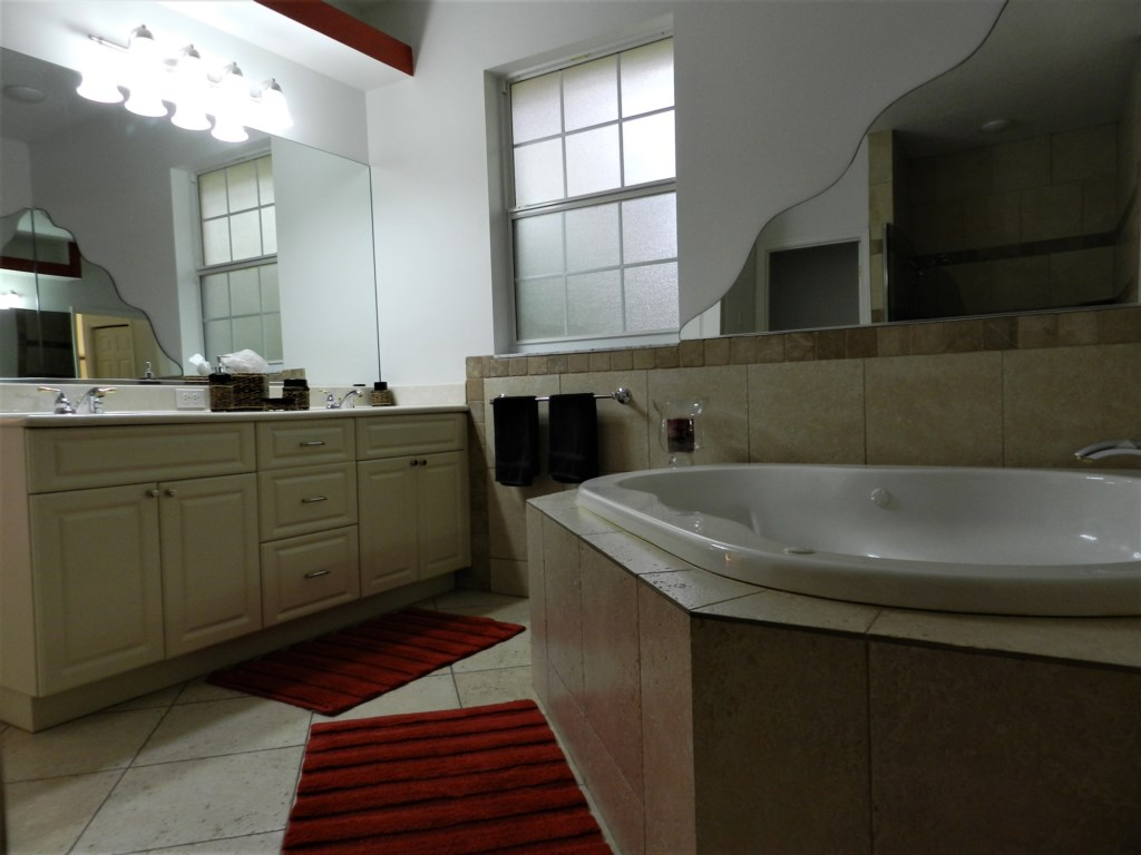 Masterbath with double sink