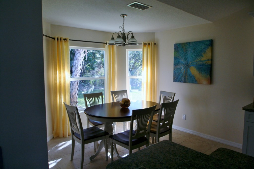 Dining area with big windows