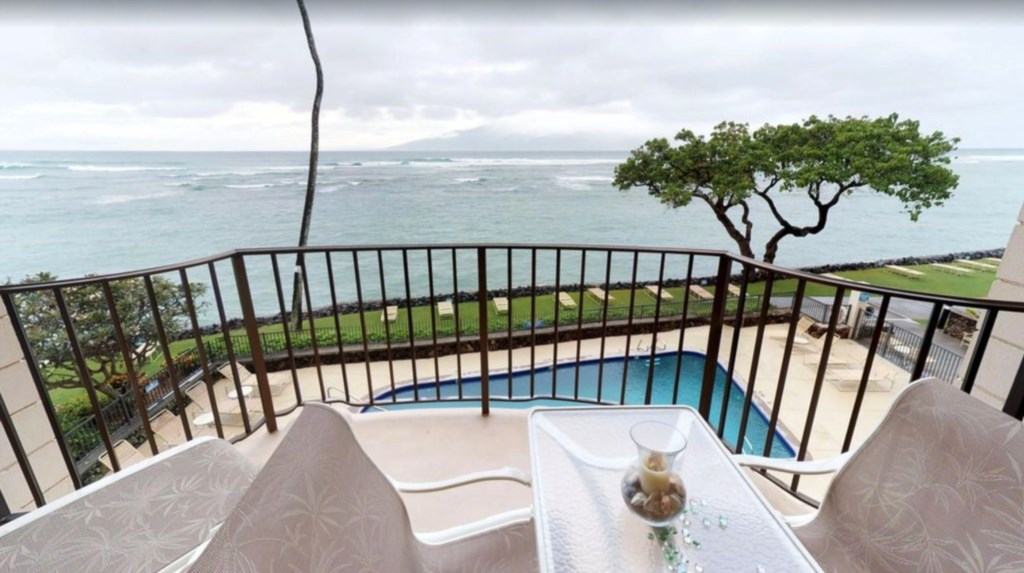 Take in the stunning Ocean views whilst enjoying this spacious lanai.