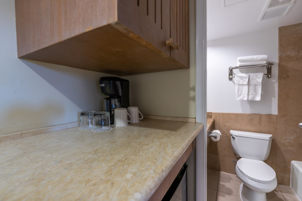 Counter space above mini fridge