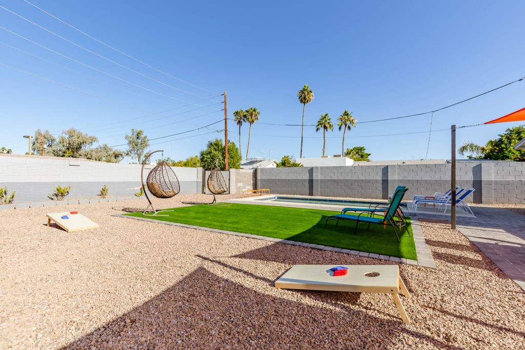 yard games and fun outdoor amenities