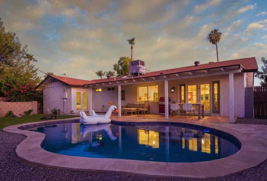 Private backyard pool