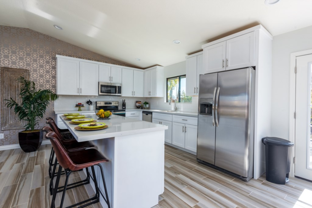 Full kitchen with brand new stainless steel appliances