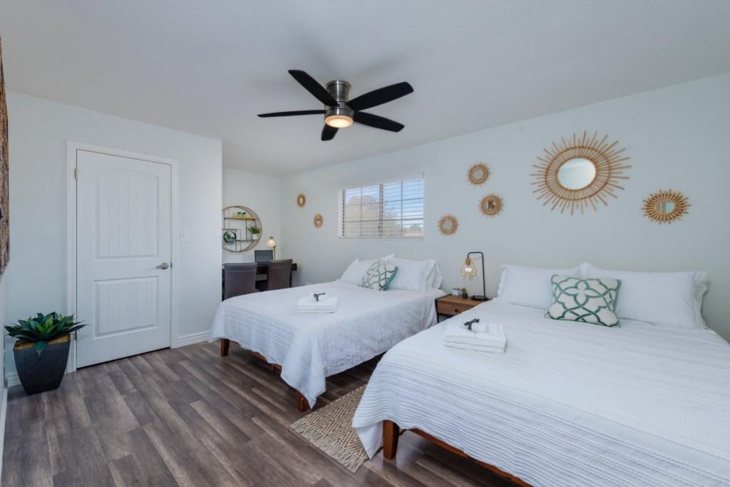 3rd Bedroom: 2 Queen Beds