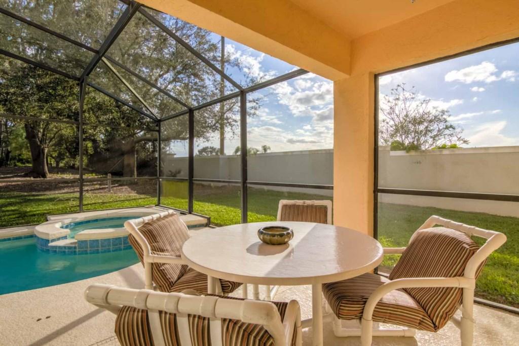 Pool deck patio