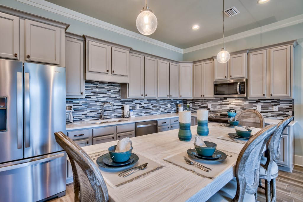 Enjoy your Custom Built Kitchen with everything you could need for your stay