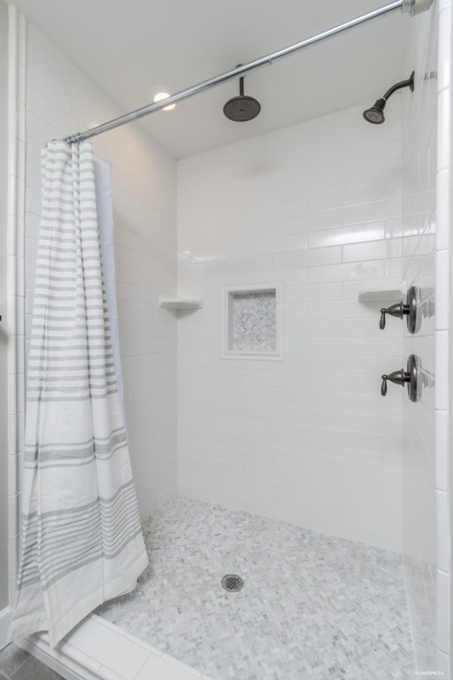 Master bathroom with rain shower