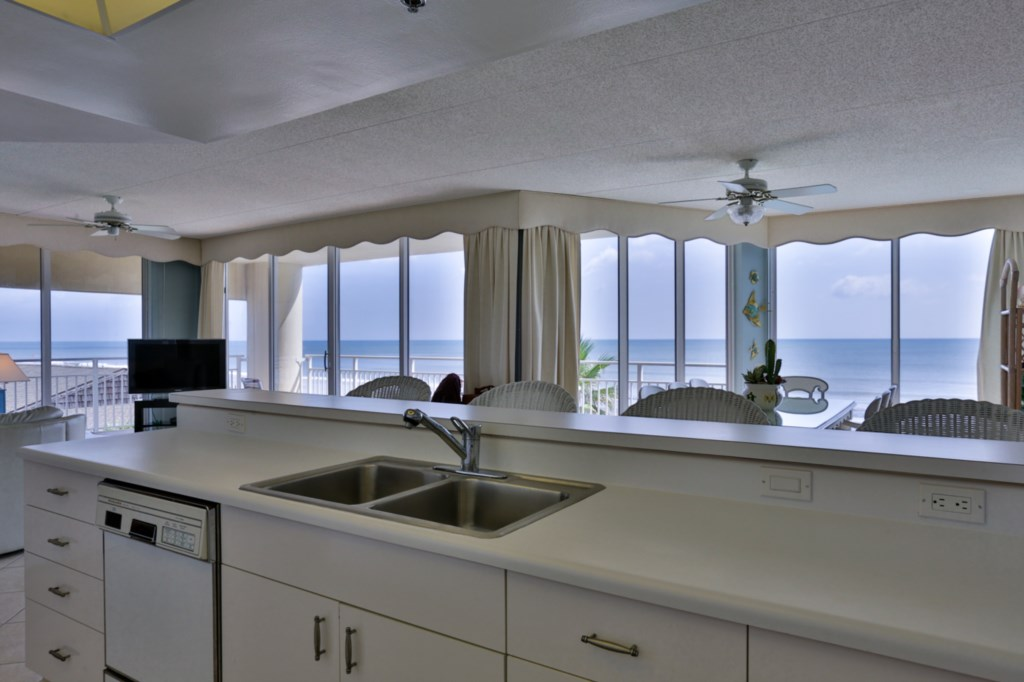 Ocean View while doing dishes