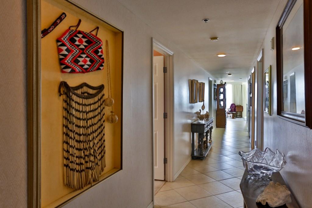 Hallway into Condo