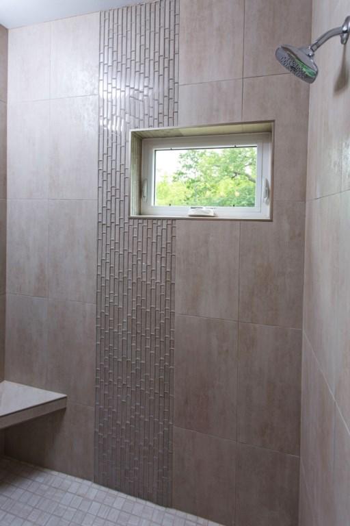 Master tiled shower