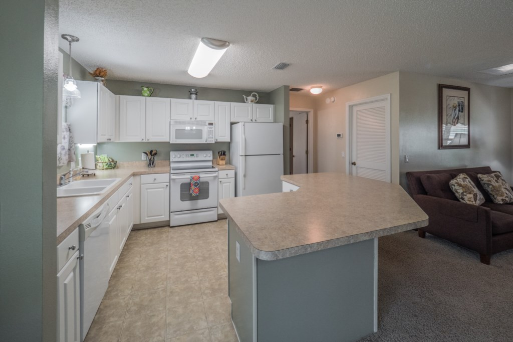 Large kitchen space with ample storage