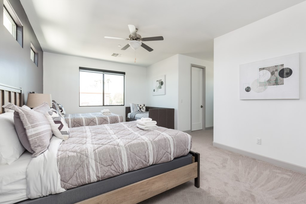 3rd Bedroom with 2 Queens and 1 Trundle Bed and en-suite bathroom
