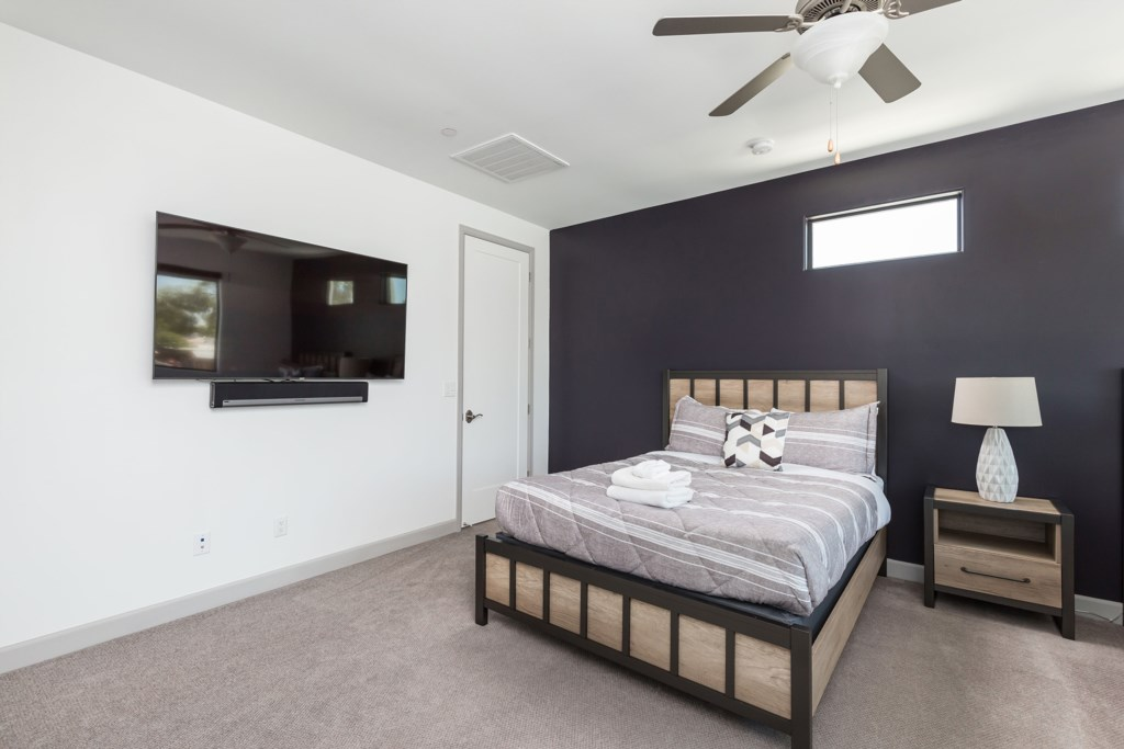 3rd Bedroom with 2 Queens and 1 Trundle Bed