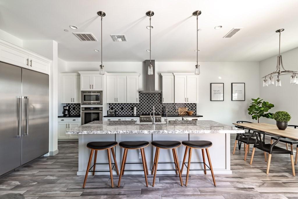 Fully stocked chefs kitchen