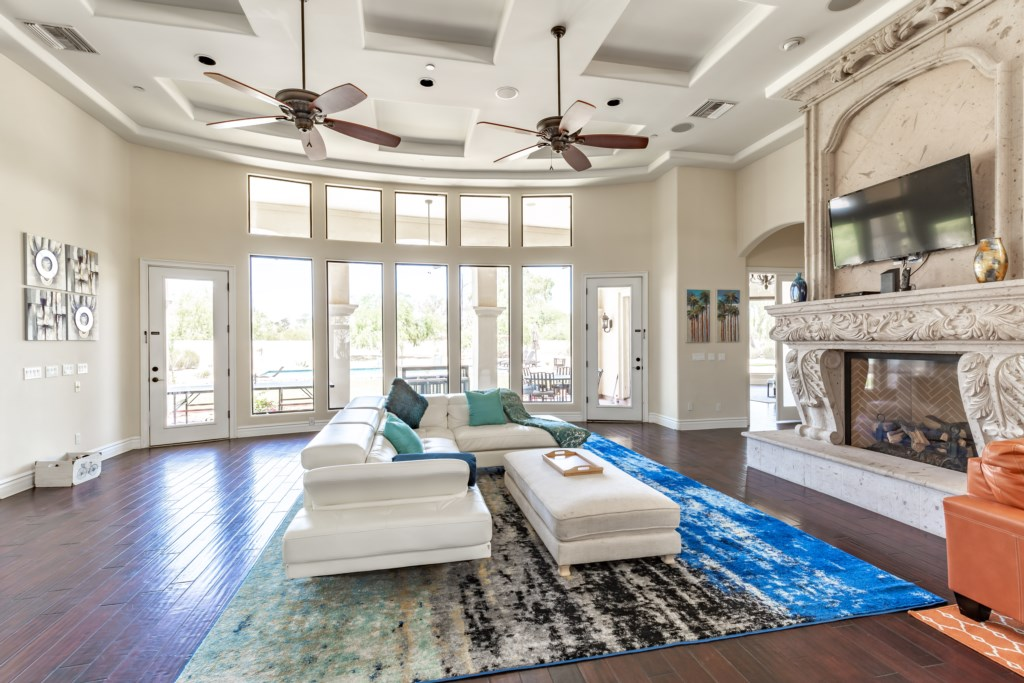 Large open concept living room