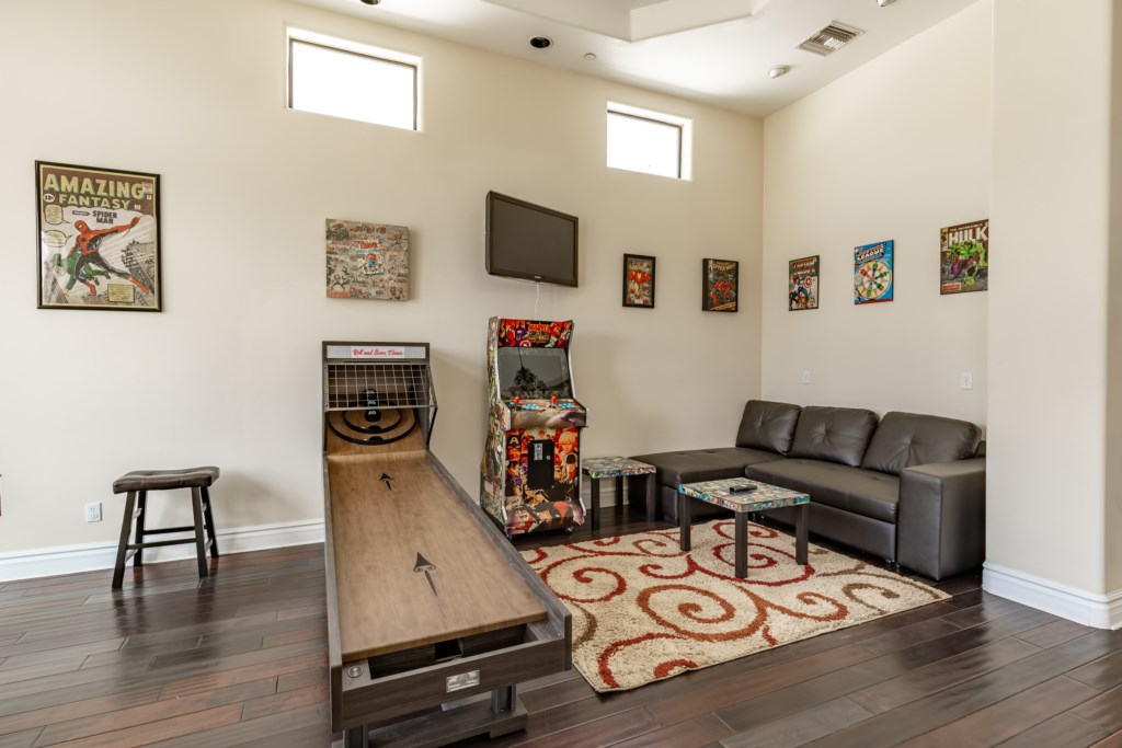 Game room for entertainment!