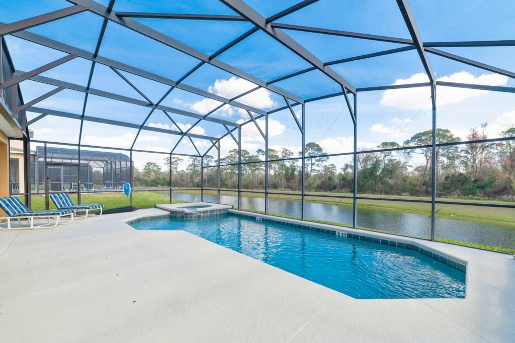 Lake Front Pool Deck