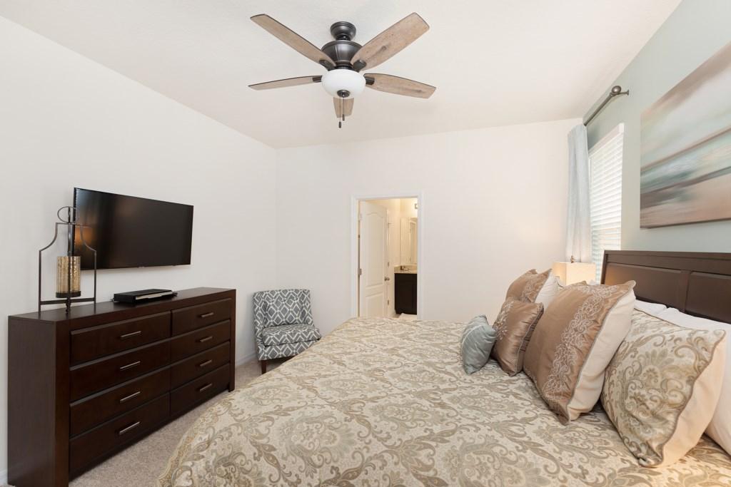 11 Master bedroom TV