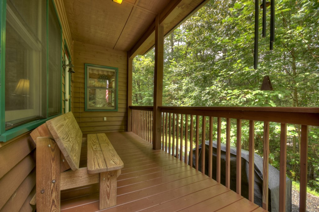 Enjoy your morning coffee on the porch listening to the sounds of nature