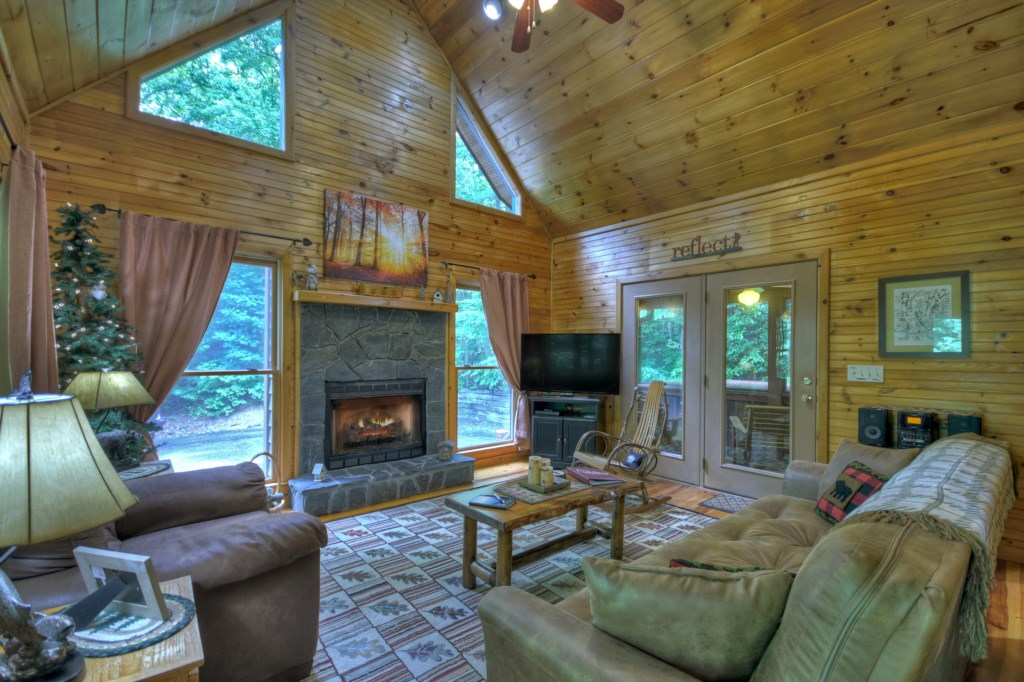 Relax in this cozy Sitting room with a book or watch your favorite movie