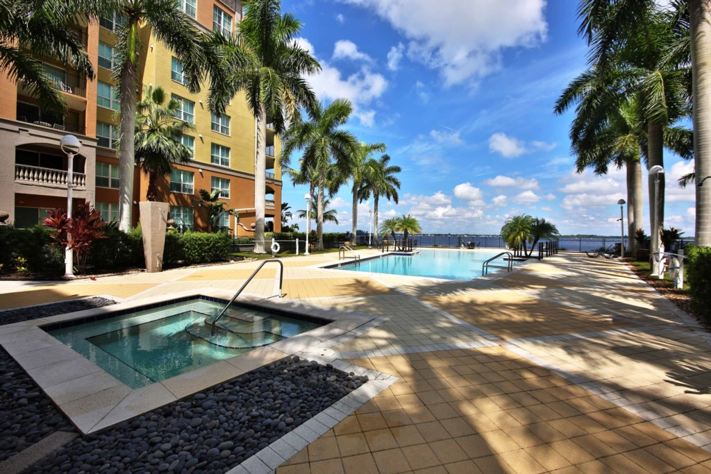 Large pool and spa perfect to relax and soak up the Florida sunshine