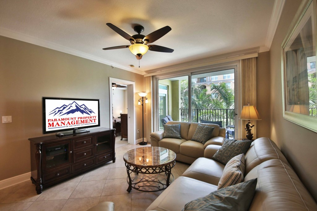 Spacious Living Room with a sleeper sofa for any additional guest