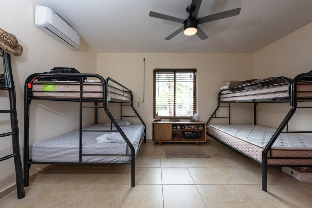 Bedroom with two bunkbeds