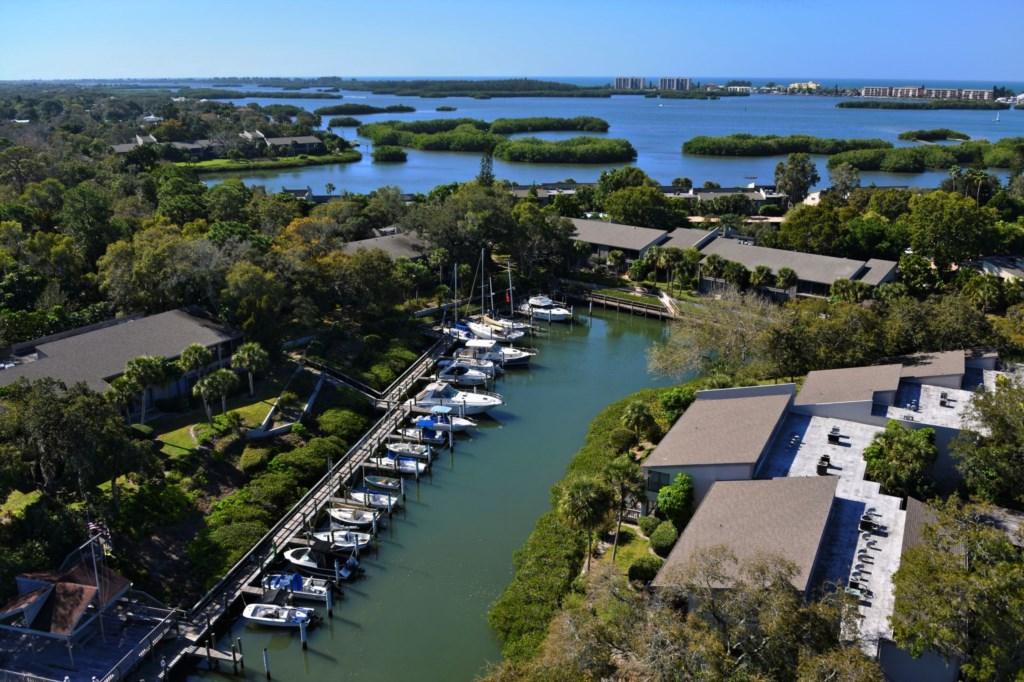 Ariel View - Pelican Cove Yacht Harbor Marina Sarasota Fl.jpg