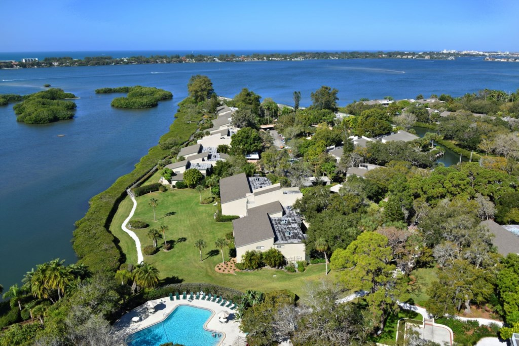 Bayfront Property Aerial View of Pelican Cove Community