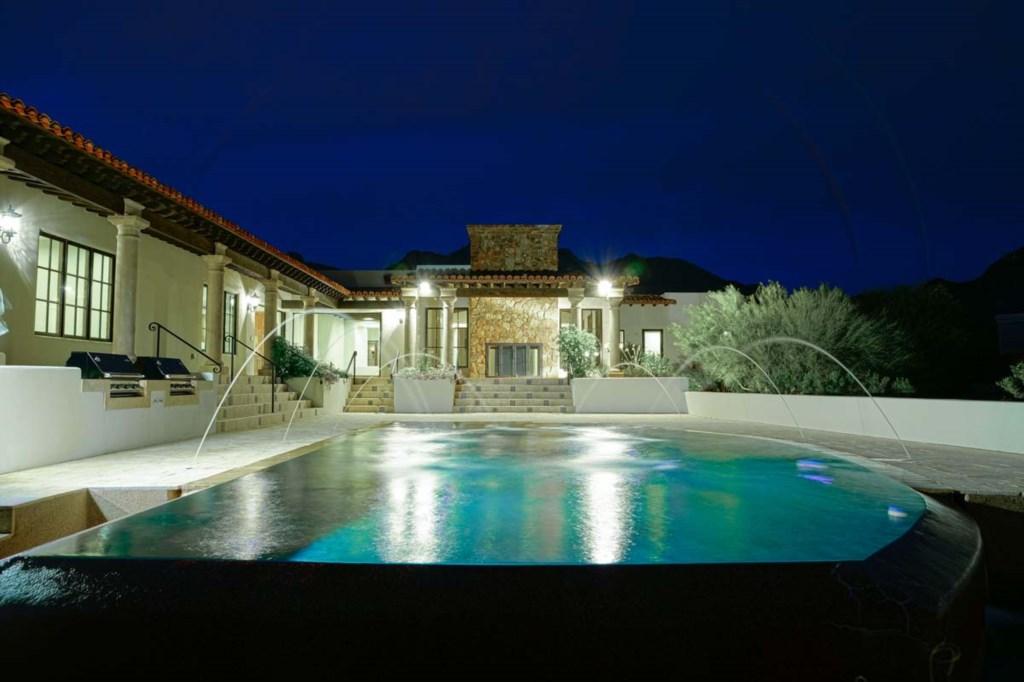 Resort style backyard