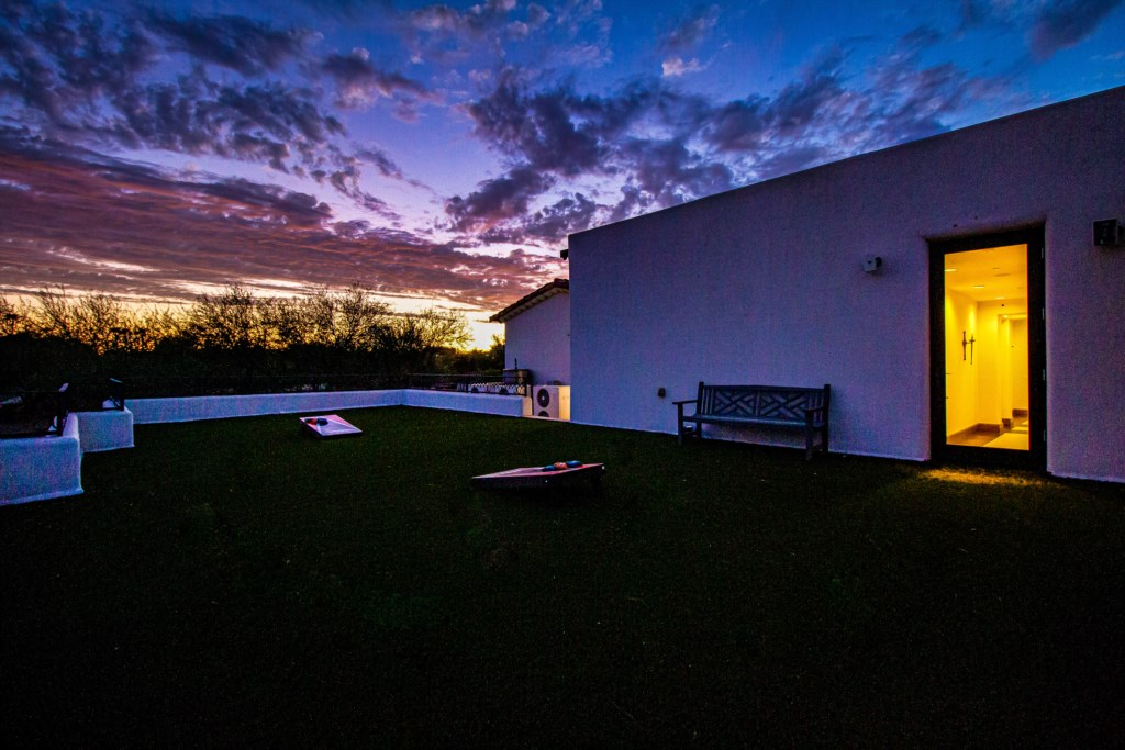 Watch the amazing AZ sunsets from the large backyard!