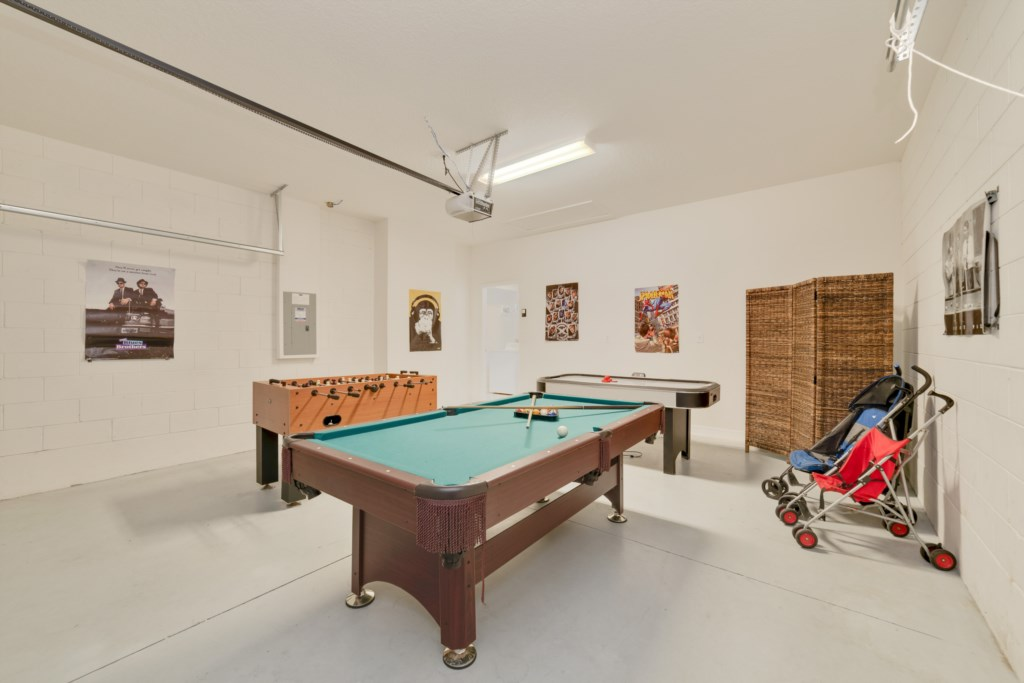 Pool table at the games room