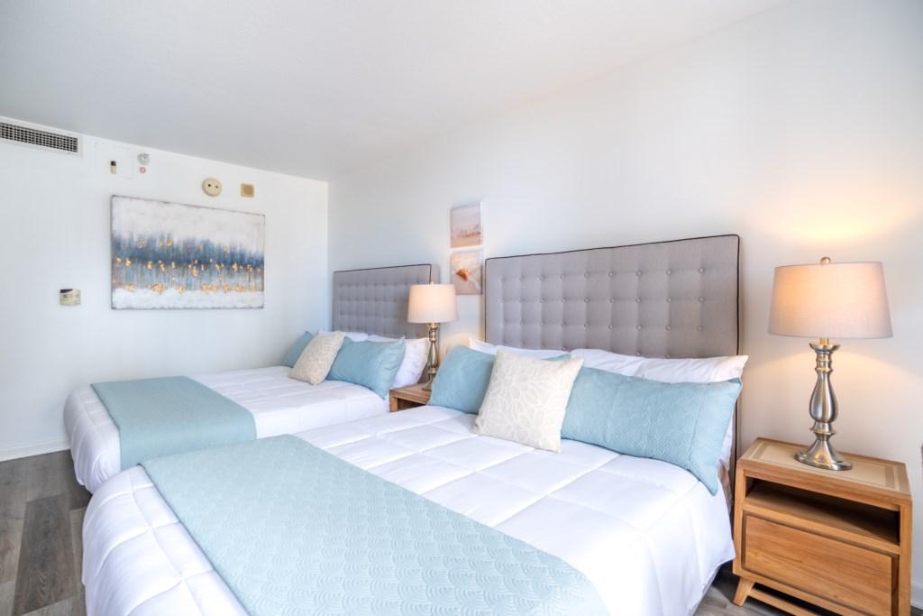 Comfortable Queen bedroom view