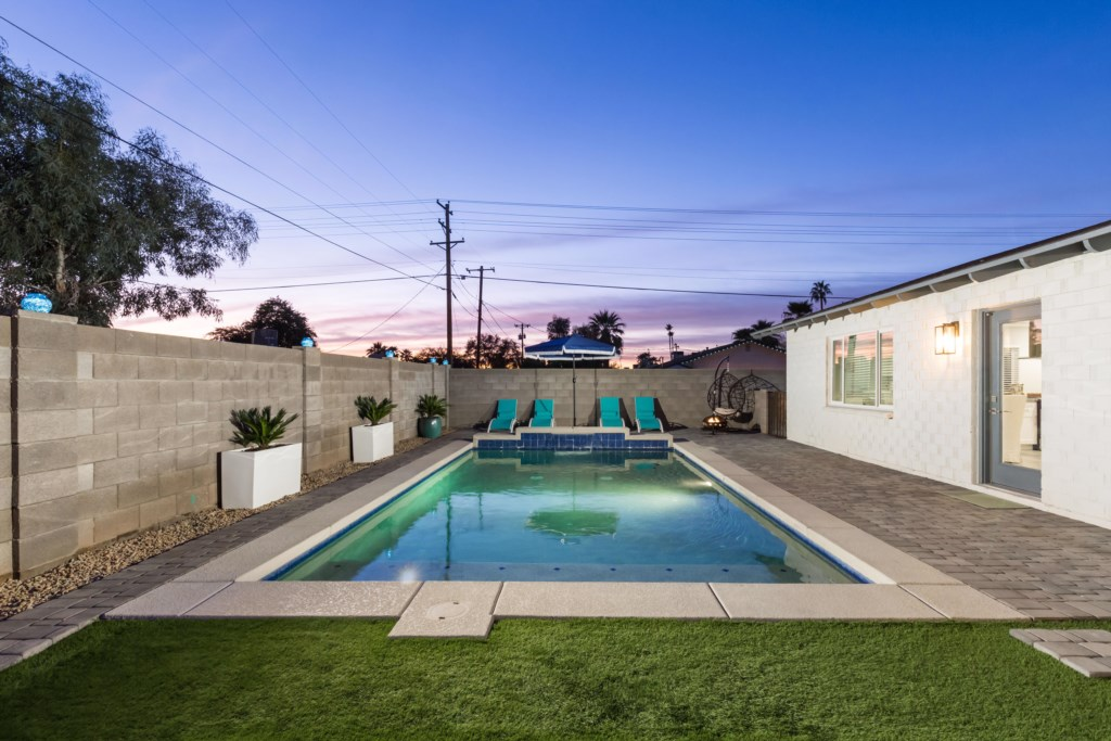 Large backyard with private pool!